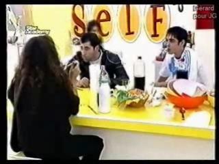 2004.11.04-5 Разговор в столовой. Discussion avec Sofiane et Francesca.