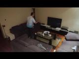 Жена жестко разыграла мужа, который захотел досмотреть матч (6 sec)