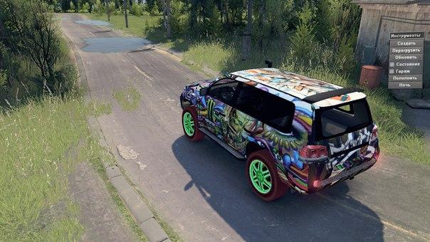 Monster Energy Toyota LC200 Drift для Spintires - Скриншот 2