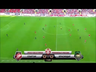 Спартак - Краснодар 2-0 (21 августа 2016 г, Чемпионат России)
