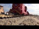 construction site 216 B mini skid steer loader & narrow gauge railroad transport 2016