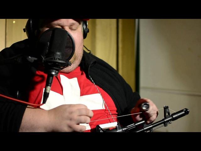 DIY Kalashnikov Diddley Bow Guitar. Alexander Pribora pickups.