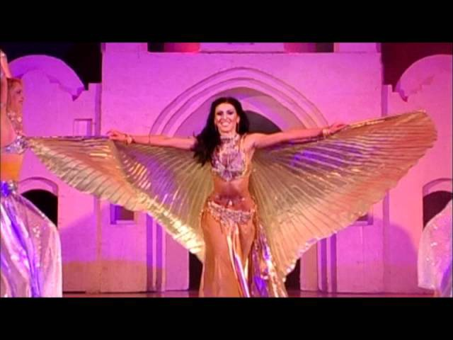Bellydance with Isis wings Amira Abdi with Ishtar dance ensemble