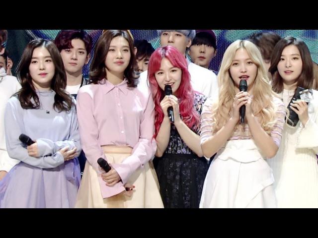 《Inkigayo WIN》 인기가요 1위 발표|Red Velvet(레드벨벳) - One Of These Nights(7월 7일) 20160327
