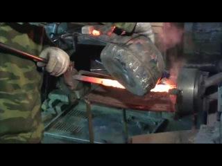 Rusklinok.ru.Процесс изготовления ножей из дамасской стали