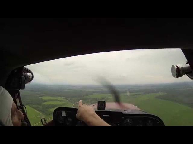 Управление Cessna 172 . Часть 1