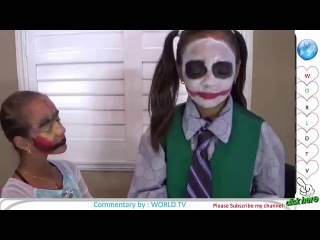JOKER GIRL MAKEUP FAIL VS FROZEN ELSA Toys To See Messy Prank 1