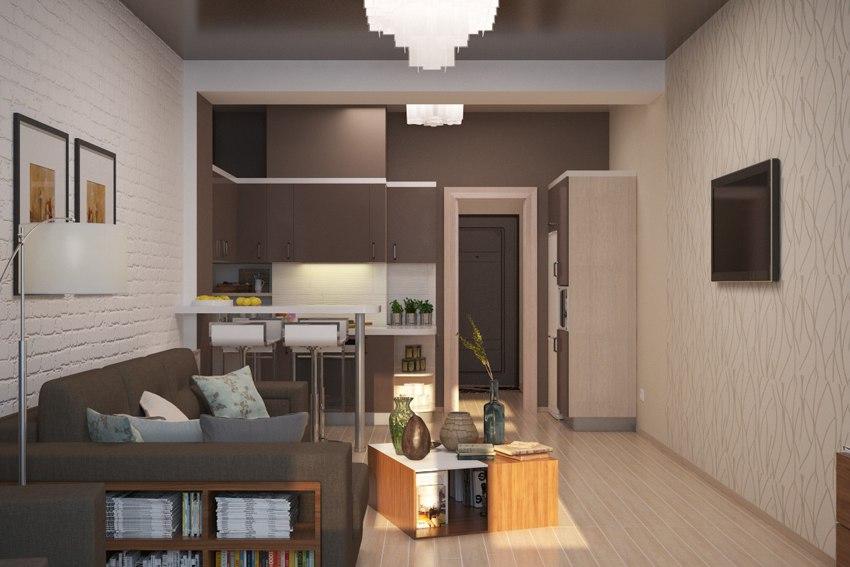Концепт квартиры порядка 30 м.