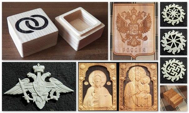 Сувениры из дерева, пластика, металла