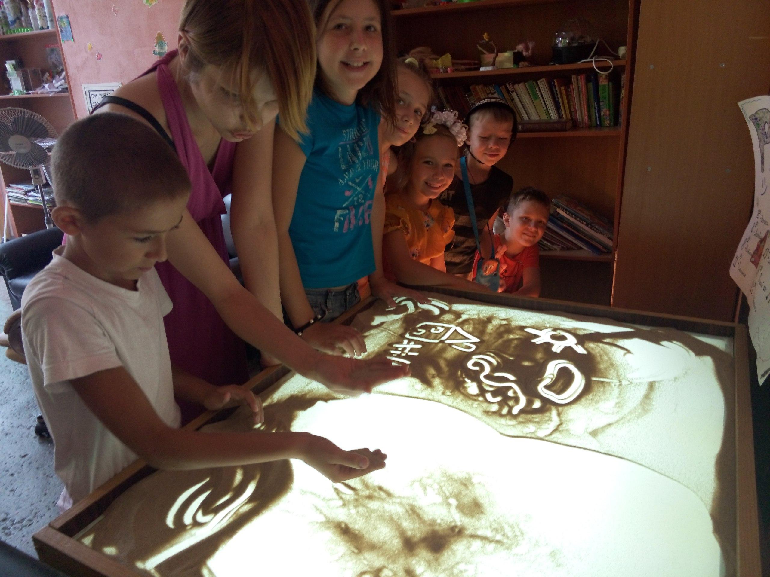 групповые и индивидуальные занятия с детьми по песочной анимации, Запорожье