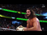Seth Rollins vs Roman Reigns | Titantrons , Ending and Ambrose Cashes in