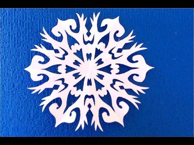 DIY. Как вырезать новогодние снежинки. How to cut a paper snowflake