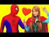 Spiderman and Frozen Anna Love Soap Bubble with Hulk Superheroes Real Life