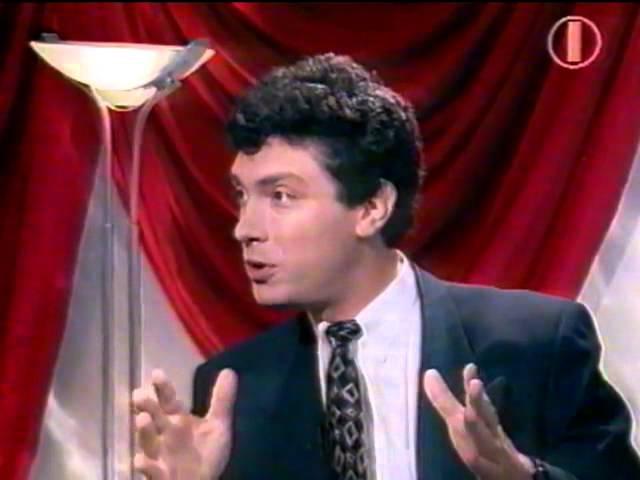 Жириновский облил соком Немцова на дебатах 1995