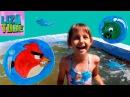 Angry Birds бассейн Лиза купается в нашем дачном семейном бассейне Ангри Бедс на канале lizatube