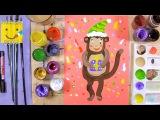 Год обезьяны, как нарисовать обезьянку - урок рисования для детей от 4 лет, рисуем дома поэтапно