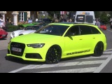 Neon green Audi RS6 with never ending crackle!