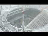 Полет над строящимся стадионом Зенит в Санкт-Петербурге. Летайте с нами