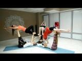 Мастер-класс по акро-йоге, итоговый показ, Ерыкалова Ксения + КО