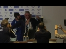 Ranieri soaked in champagne at Leister press conference - 07.05.16