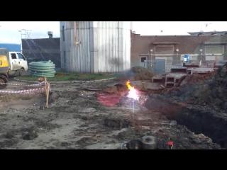 Взрыв кабеля 6000 вольт