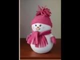 Мастер класс по созданию снеговика своими руками