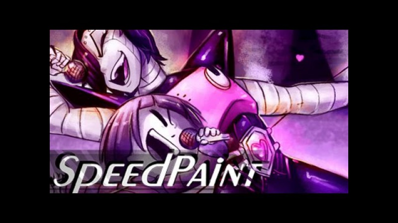 Made for Entertainment - Mettaton and Frisk SPEEDPAINT (undertale)