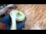 Джембе-композиция Самба для одного, школа африканских барабанов Sun Drums