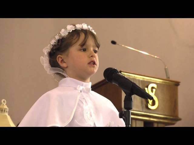 Martyna Mierzwiak - piosenka podczas Pierwszej Komunii Świętej