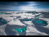 Frozen Lake- Baikal (undefinable blue colored ice)
