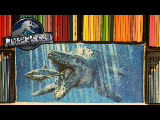 Drawing Jurassic World MOSASAURUS