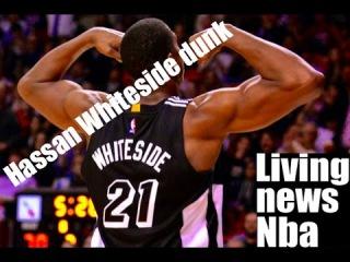 Hassan Whiteside Throws It Down on Kristaps Porzingis!