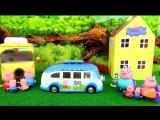 Anna Kids - Свинка Пеппа - Пикник Мультик сравнение Новый набор Автобус свинки Пеппы Peppa Pig toys