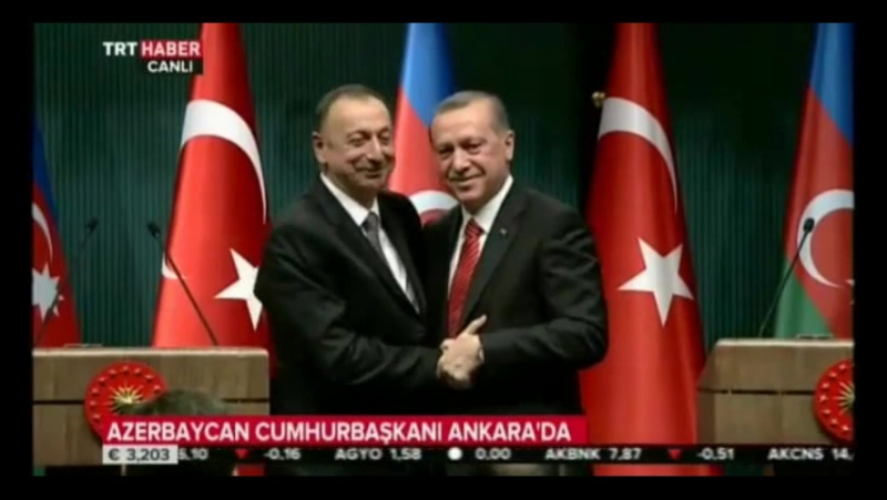 Президент Азербайджана Ильхам Алиев растрогал президента Турции Реджеп Тайиб Эрдогана.|AZERBAIJAN, AZERBAYCAN, БАКУ, BAKU,BAKI
