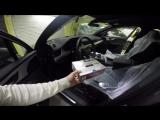 Audi Q7 установка разнесенного Радар-детектора Whistler Pro-3600
