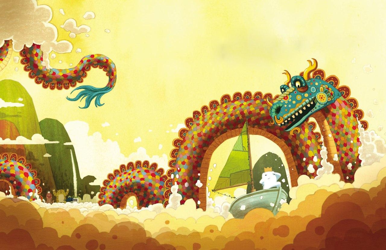 Иллюстрация к книге Приключения Бикла