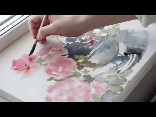 Цветы из цветной воды (2)