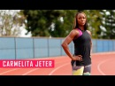 Carmelita Jeter Strength and Conditioning Training for Rio 2016 | Fitness Babes