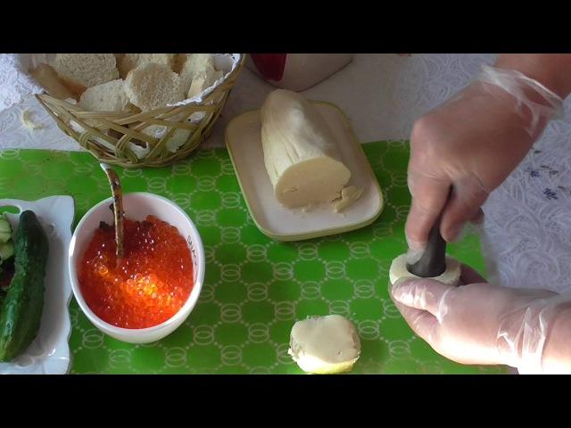 Бутерброды на праздник Закуска с красной икрой