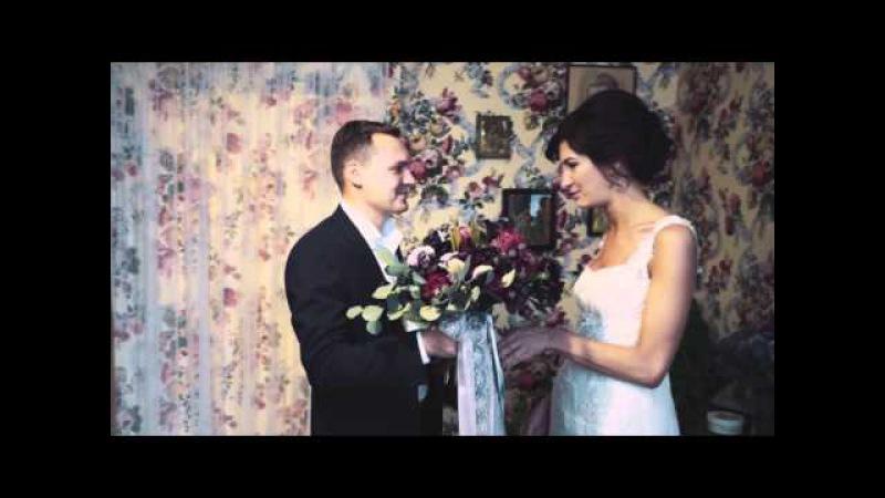 Потрясающий клип, смонтированный в день свадьбы и показан вечером на банкете