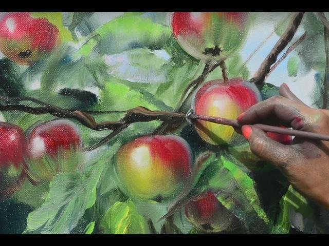 Ветка яблони. Ольга Базанова