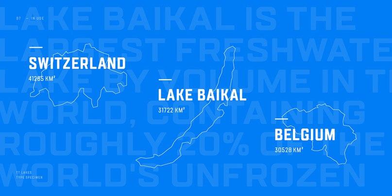 шрифт TT Lakes