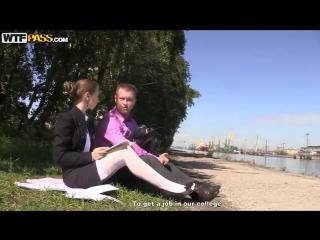 Пикап скромной учительницы в чулках Stefany(Wtfpass, x-art, Русское порно, аналь
