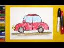 Как нарисовать Машину. Урок рисования для детей от 3 лет | Раскраска для детей