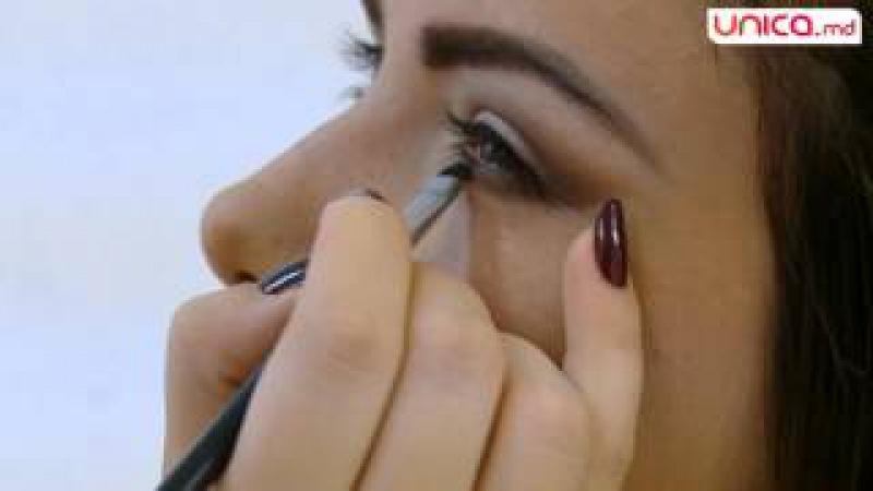 Frumusețea se învață - Vezi cum se face machiajul ochi de pisică | Unica.md