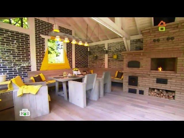 Дачный ответ Преображение лужайки вуютное патио илетнюю кухню на свежем воздухе