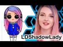 How to Draw LDShadowLady Chibi step by step - Youtube Gamer Minecraft