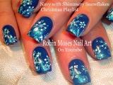 Easy Snowflake Nails | Gradient Christmas Nail Art Design Tutorial