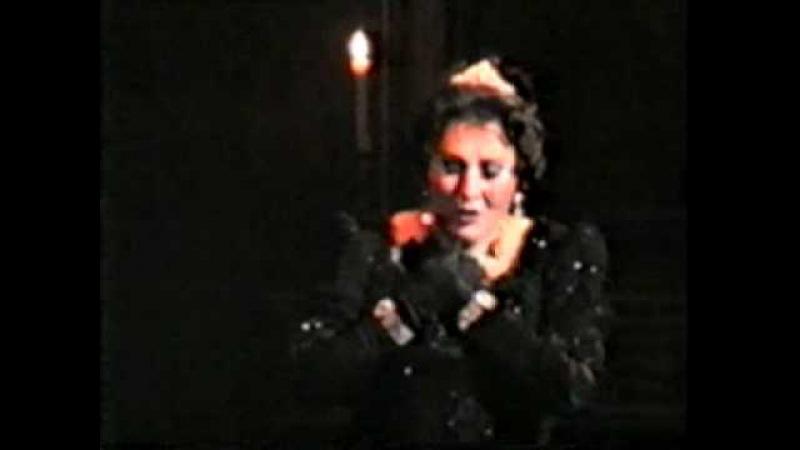 GHENA DIMITROVA - Puccini TOSCA Vissi d'arte bis ROMA OPERA HOUSE March 1992