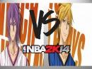 KISE RYOTA VS. ATSUSHI MURASAKIBARA - Nba2k14 Pc Gameplay! KnB Mod!